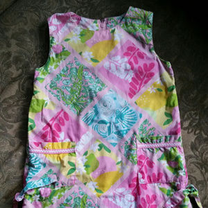 Lilly Pulitzer Sz 4T Patchwork Shift Dress